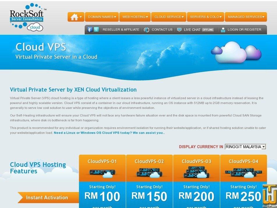 screenshot of CloudVPS-01 from rocksoft.net