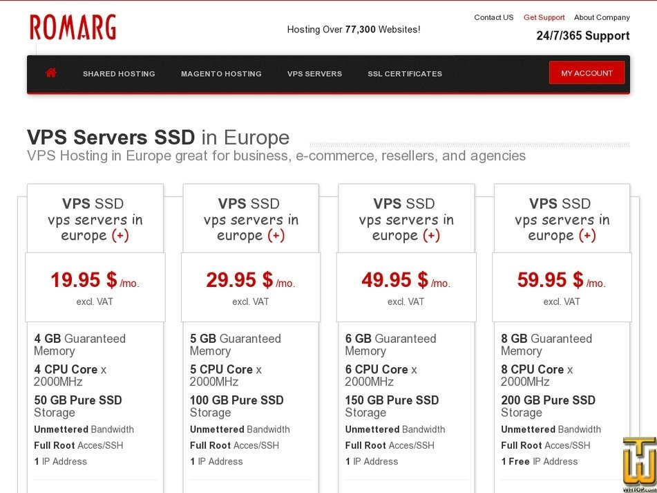 screenshot of VPS SSD from romarg.ro