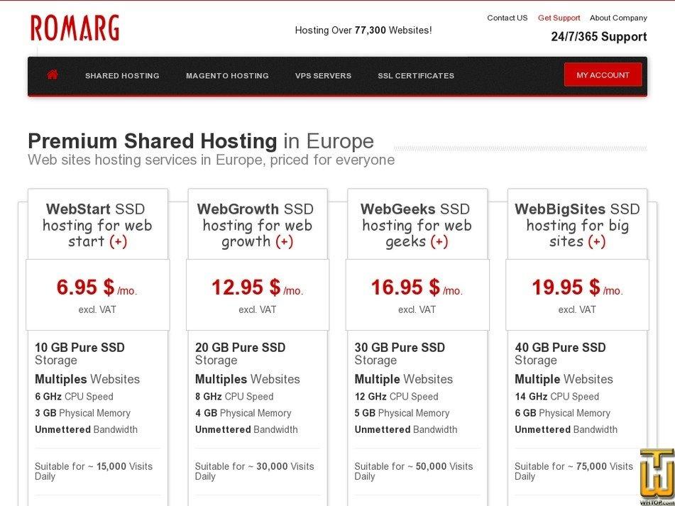 Bildschirmfoto von WebStart SSD von romarg.ro
