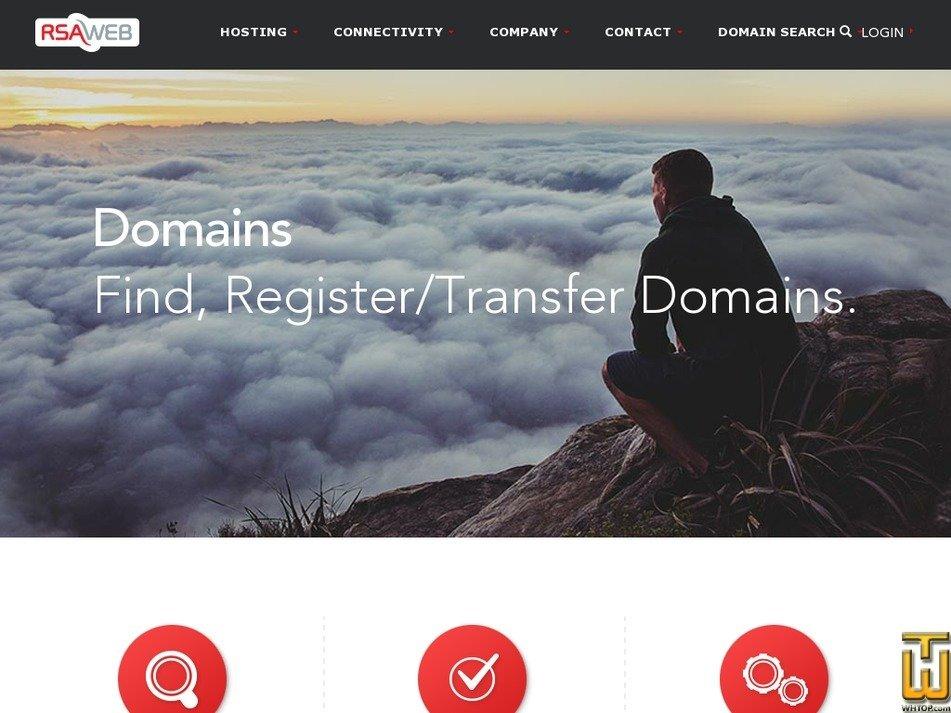 Screenshot of .com .net .org .info .biz from rsaweb.co.za