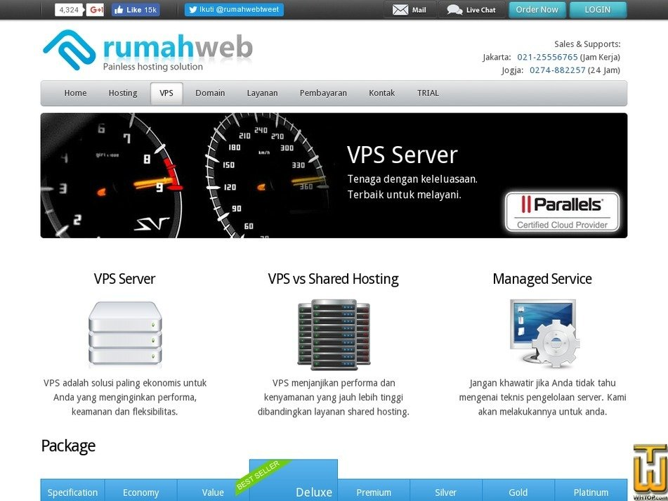 screenshot of Platinum from rumahweb.com
