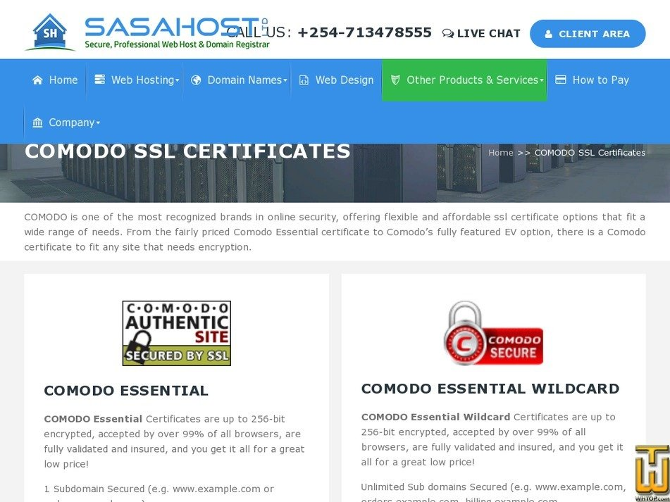 Comodo Essential Wildcard From Sasahost 41751