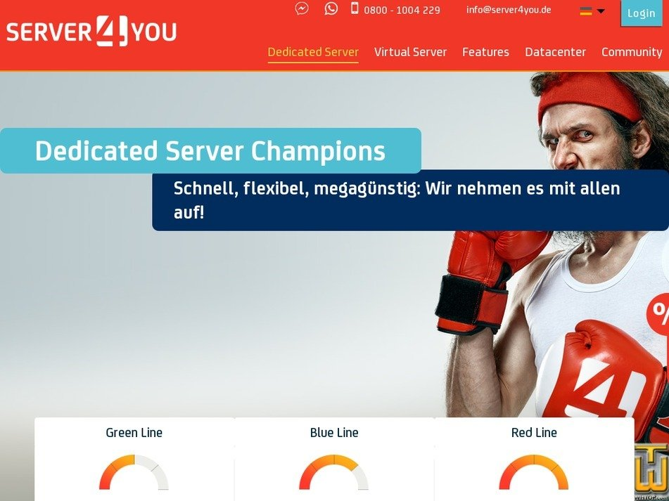 Screenshot of VDS Silver from server4you.de