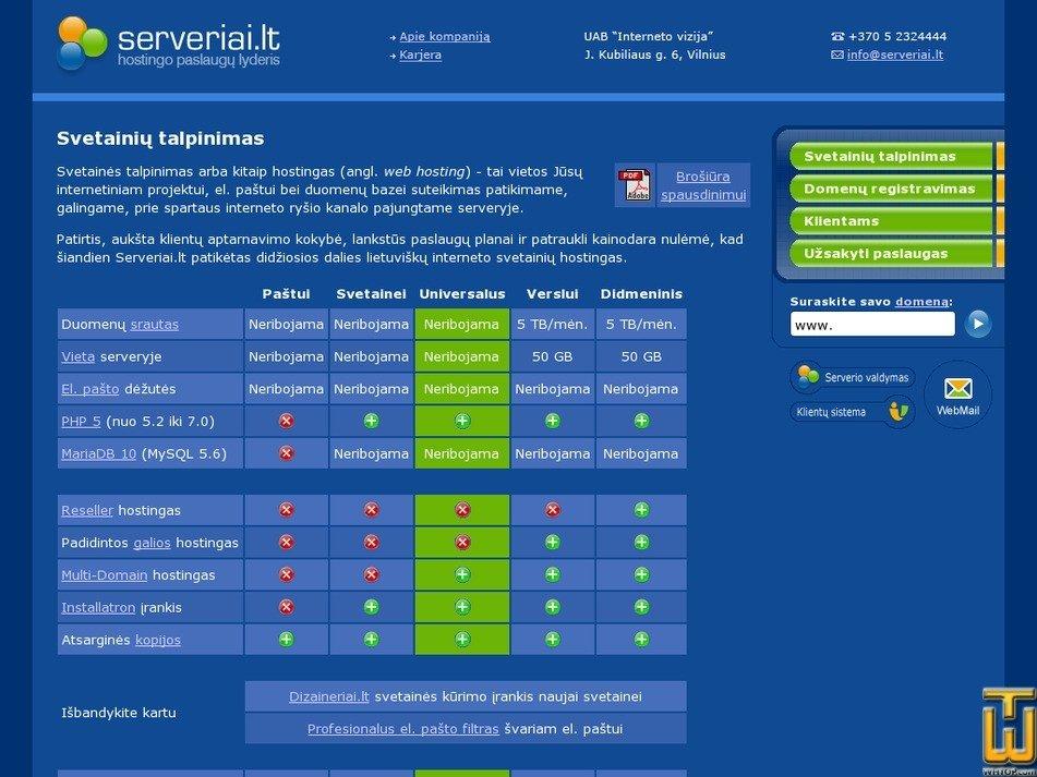 Screenshot of Didmeninis from serveriai.lt