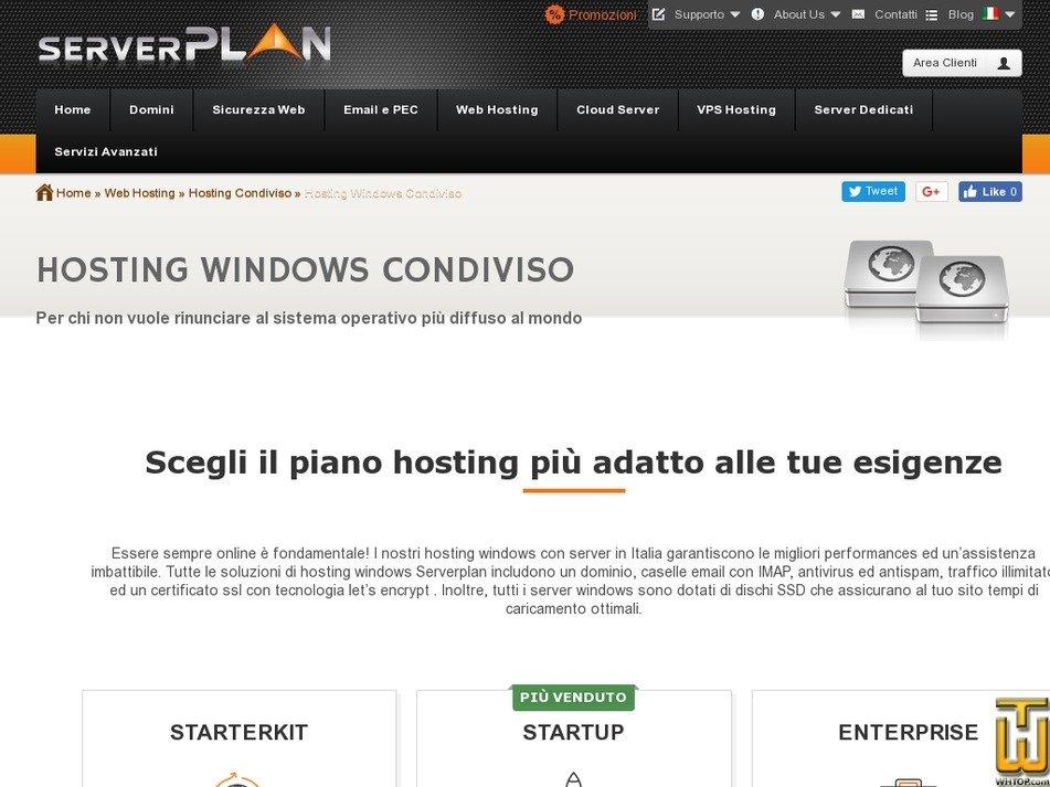 Screenshot of Starterkit from serverplan.com