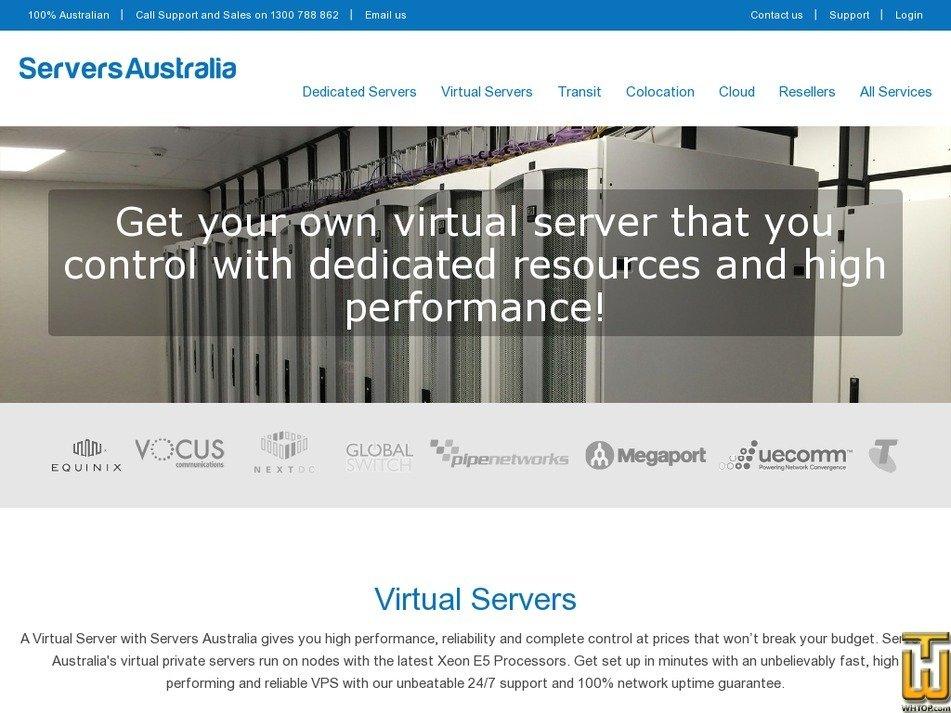 Screenshot of Starter 256MB, 2 Cores from serversaustralia.com.au