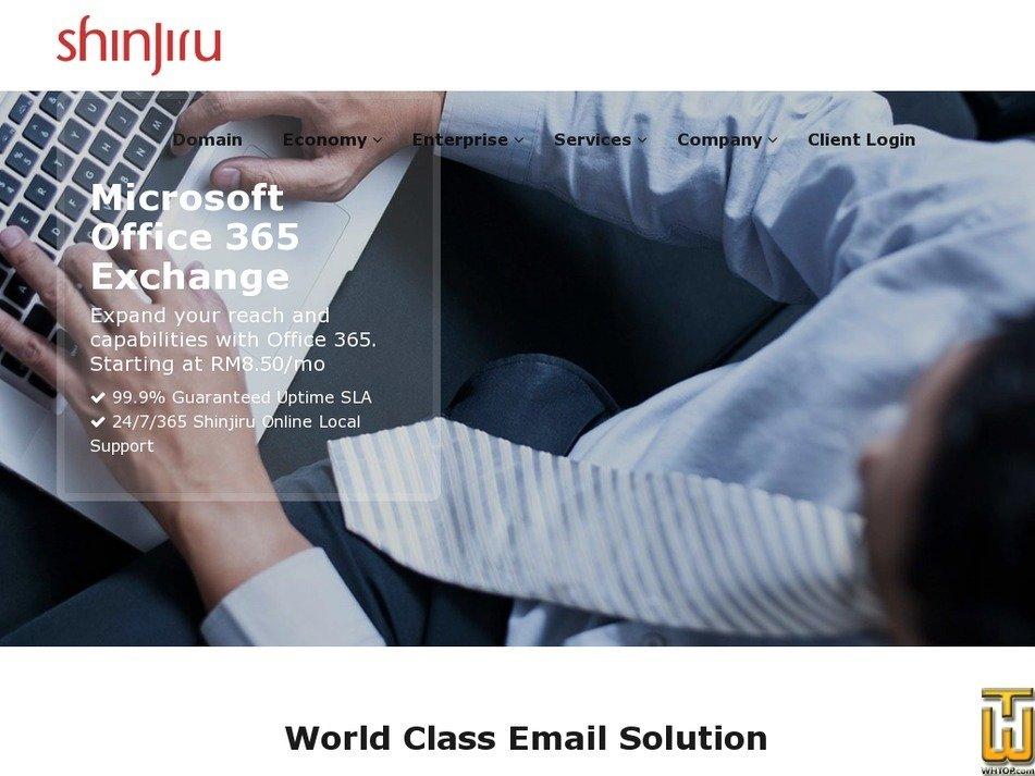 Screenshot of Office 365 Advanced from shinjiru.com.my
