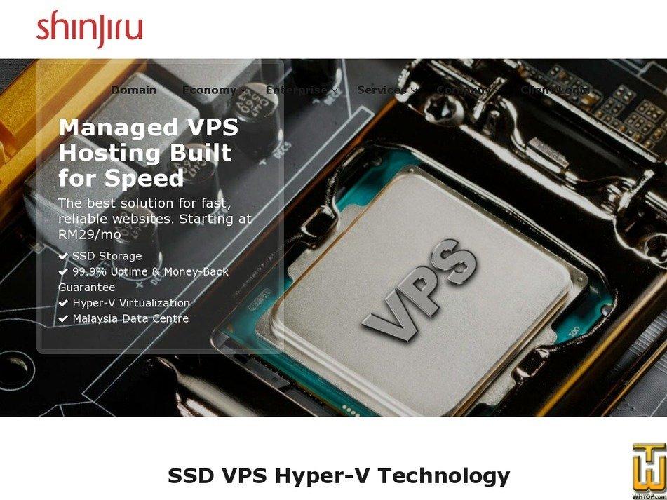 Screenshot of Windows VPS Ultimate from shinjiru.com.my