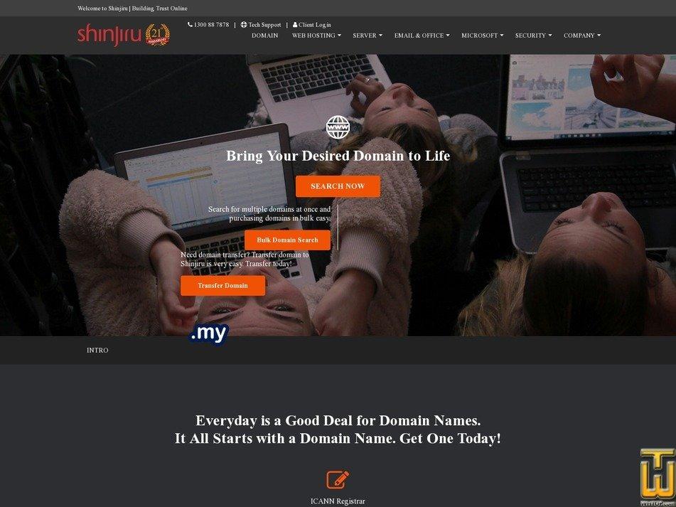 screenshot of .COM.MY from shinjiru.com.my