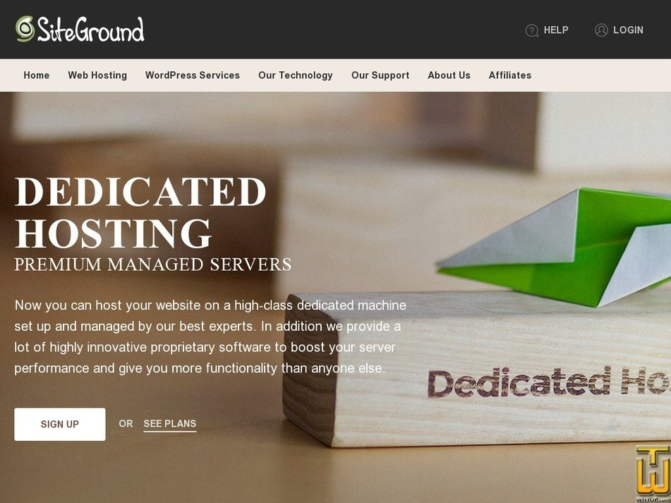 Screenshot of Entry Server from siteground.com