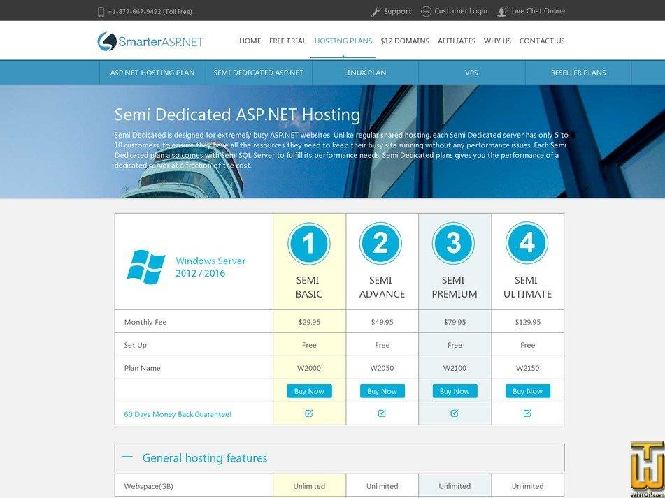 screenshot of W2000 (Semi Basic) from smarterasp.net