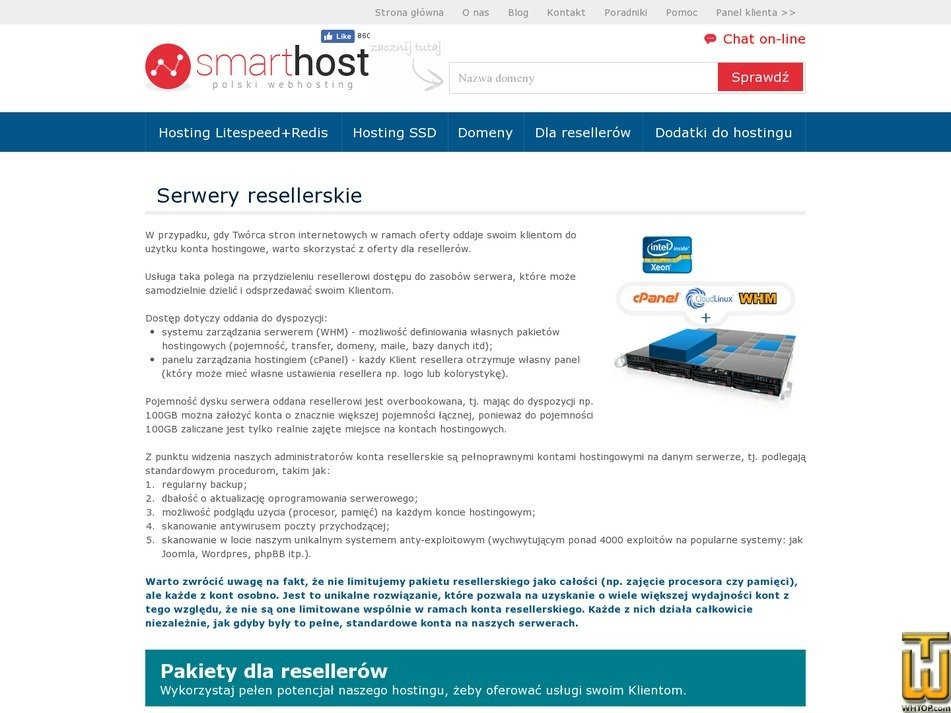 screenshot of Smart-res50 from smarthost.pl