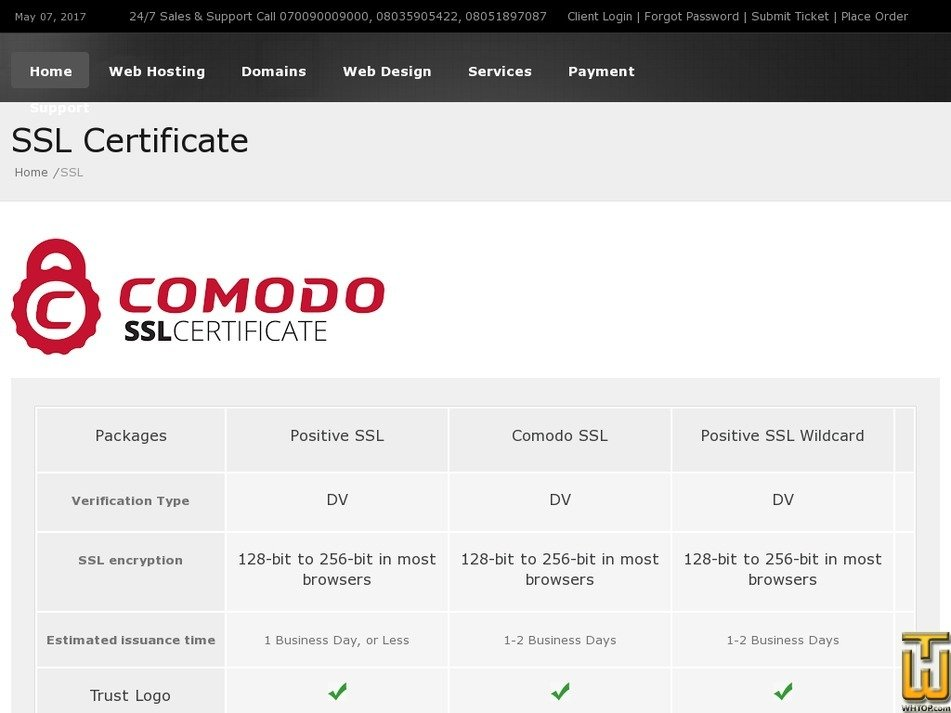 Positive Ssl From Smartweb 49634 On Ssl Certificates