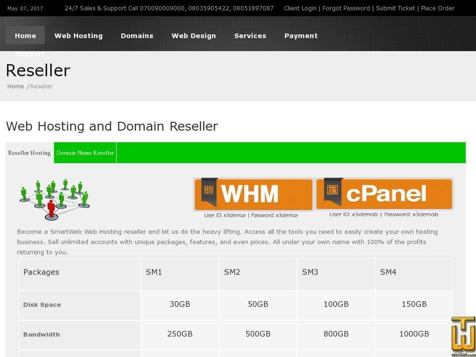 Screenshot of SM1 from smartweb.com.ng