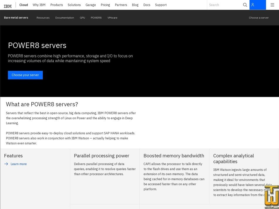 screenshot of POWER8 C812L-S from softlayer.com