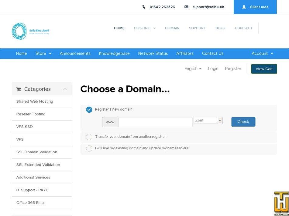 Screenshot of Starter from solblu.uk