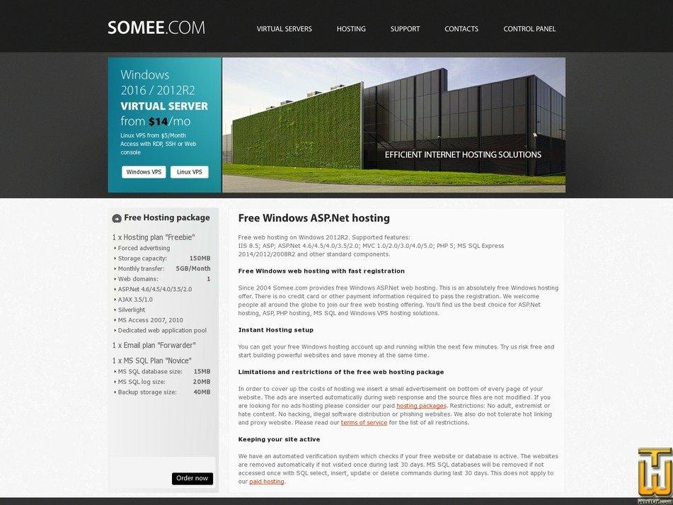 Screenshot of Freebie from somee.com