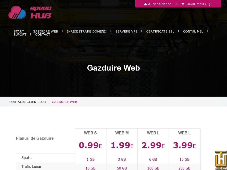 Screenshot of WEB XL from speedhub.eu