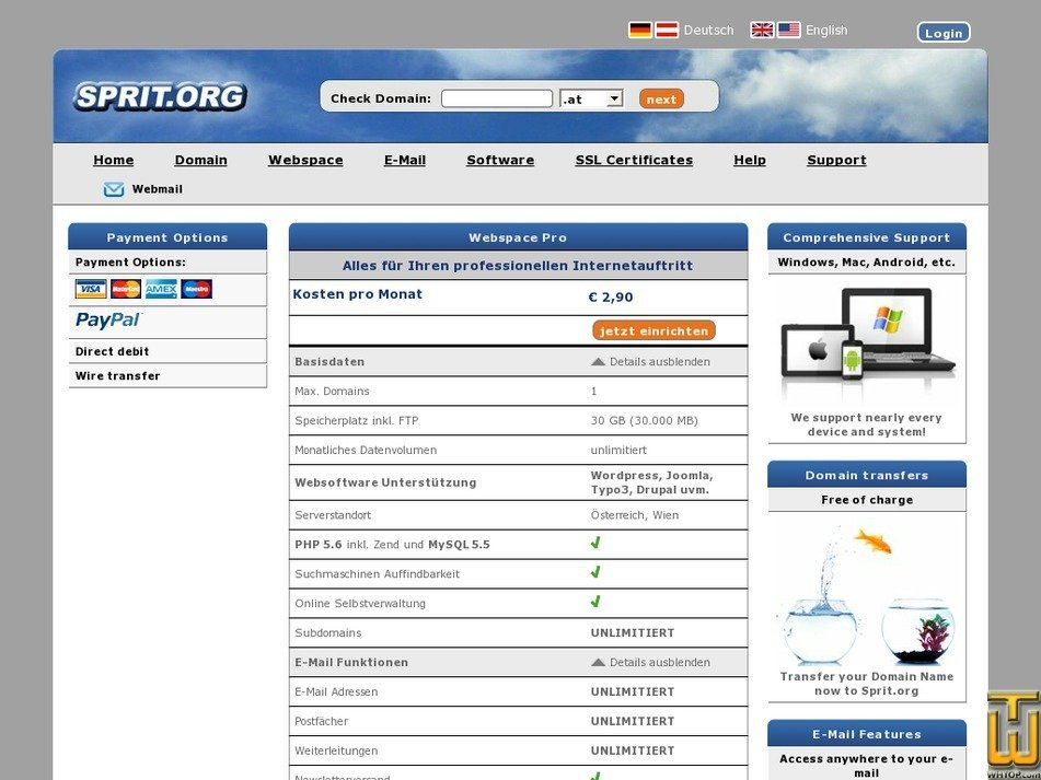 Screenshot of Pro from sprit.org