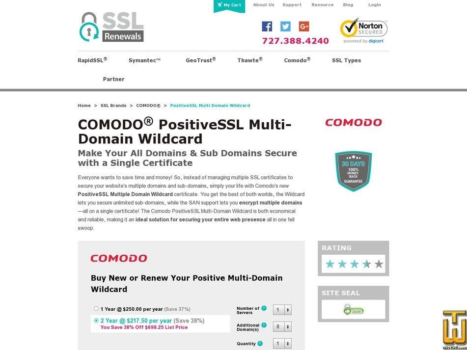 Comodo Positivessl Multi Domain Wildcard Certificate 77946