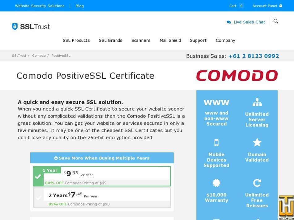 Comodo PositiveSSL Certificate