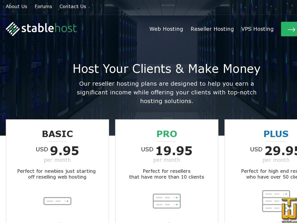 Screenshot of BASIC from stablehost.com
