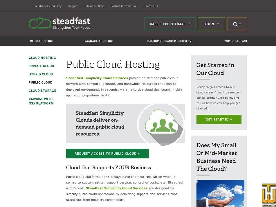screenshot of X-Small from steadfast.net