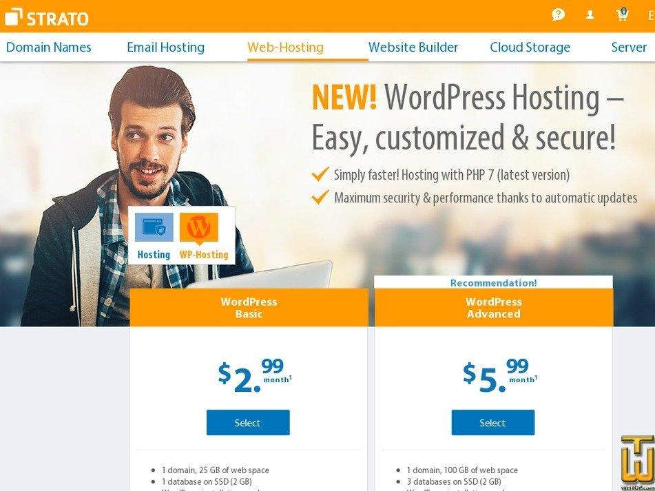 Screenshot of WordPress Basic from strato.de