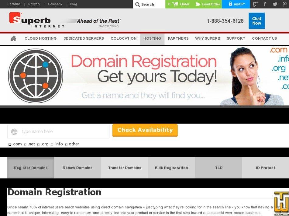 Screenshot of .com from superb.net