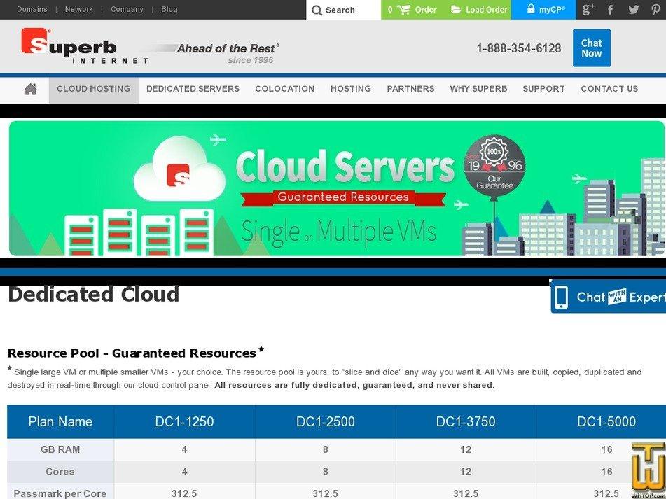 Screenshot of DC1-1250 from superb.net