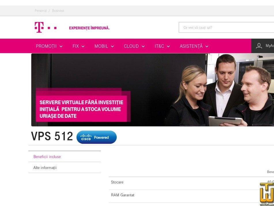 Screenshot of VPS 512 from telekom.ro