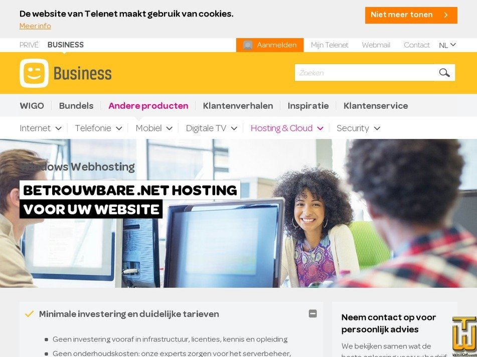 Screenshot of Small from telenet.be