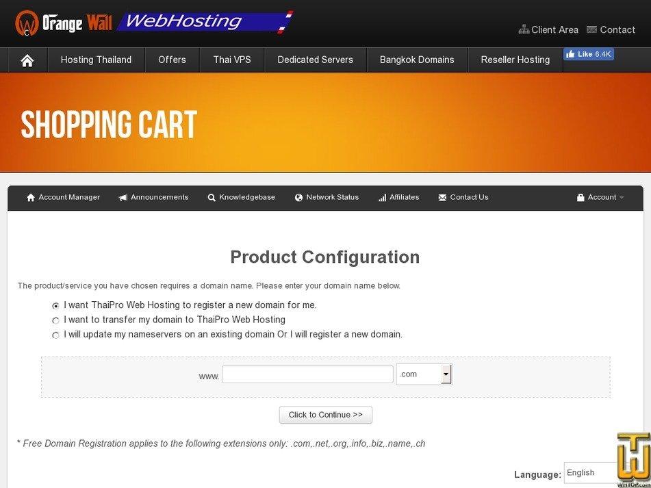 Screenshot of ENHANCED from thaiprowebhosting.com