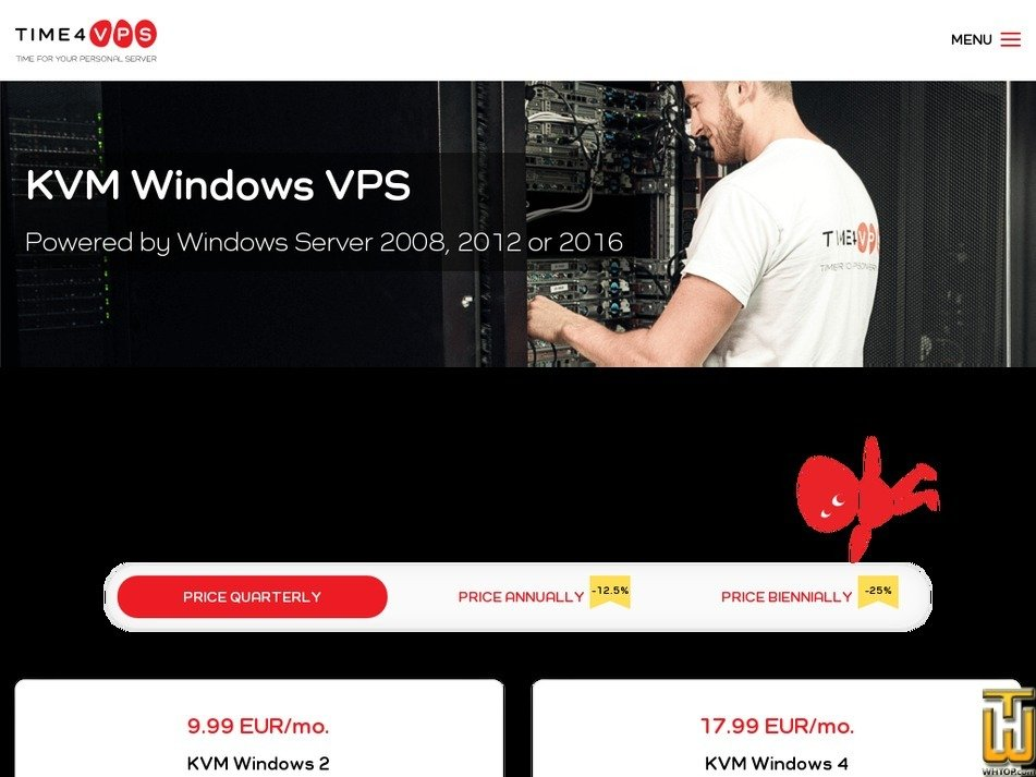 Screenshot of KVM Windows 8 from time4vps.eu