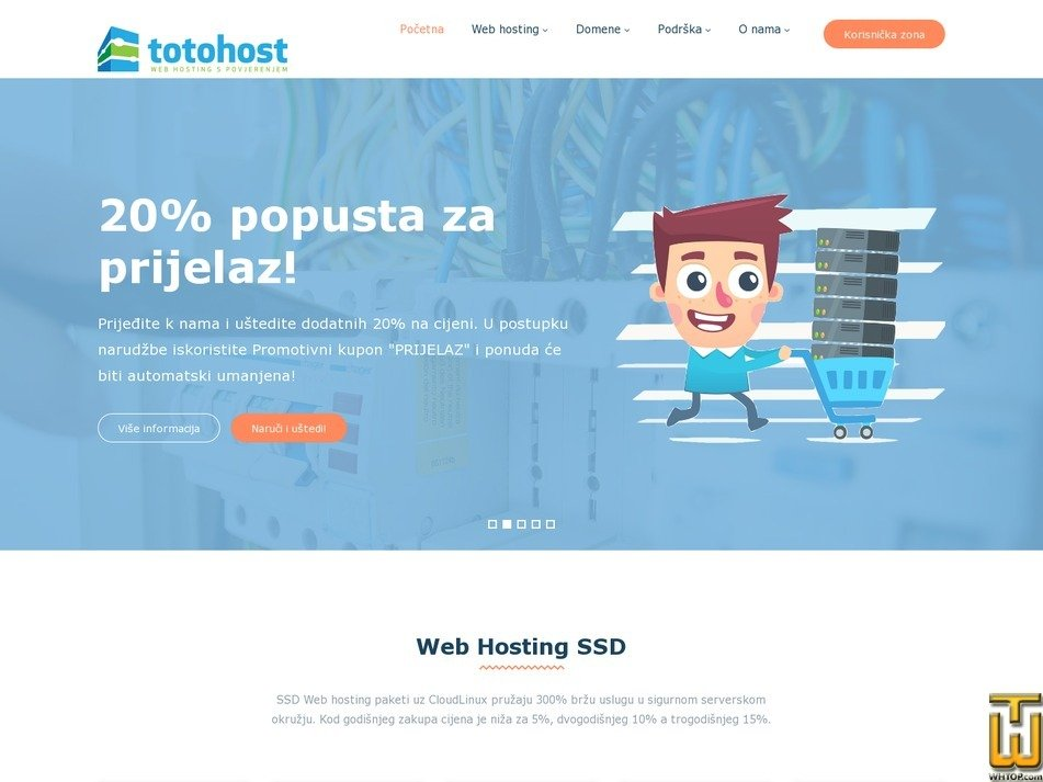 Screenshot of TOTOHOST MIKRO Linux from totohost.hr