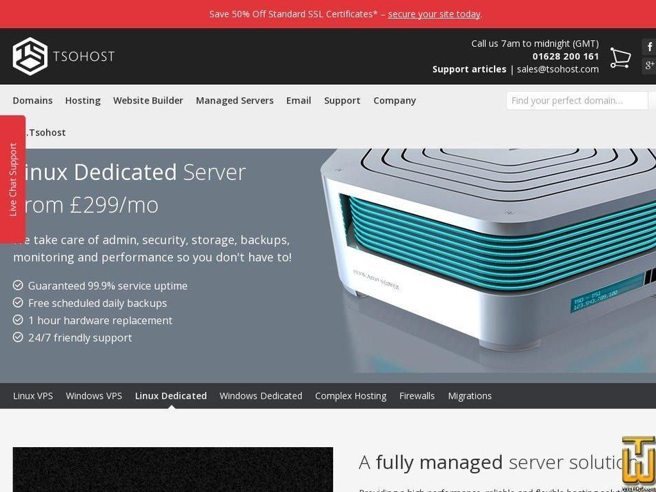 Screenshot of Linux DS1 from tsohost.com