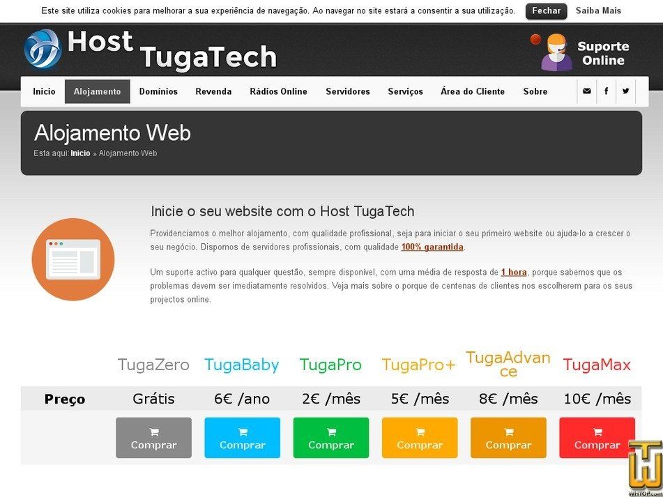 Screenshot of TugaFree from tugatech.com.pt
