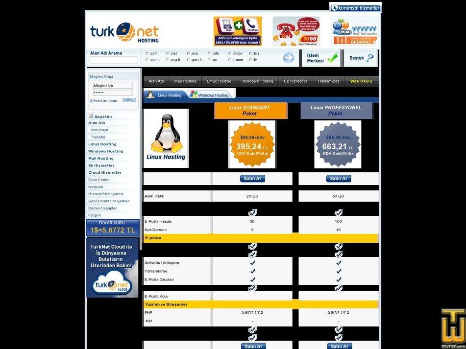 screenshot of Linux STANDART Paket from turk.net