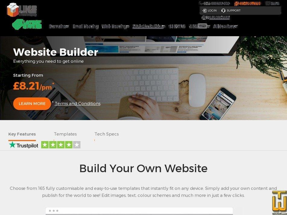 Screenshot of Business from uk2.net