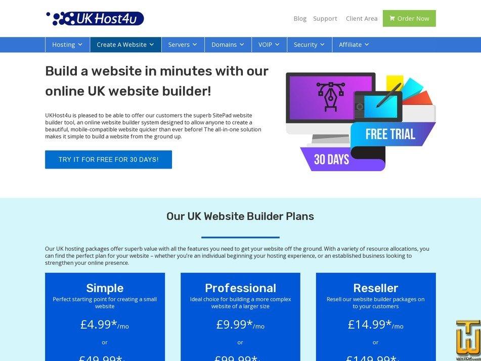 Screenshot of Simple from ukhost4u.com