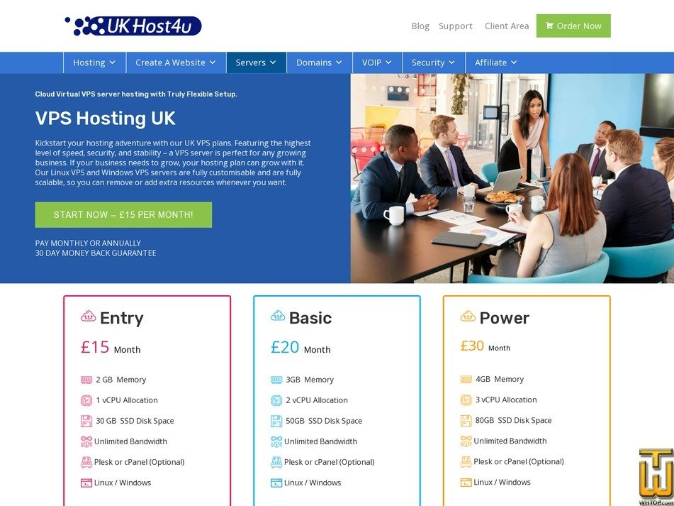 Screenshot of Entry from ukhost4u.com