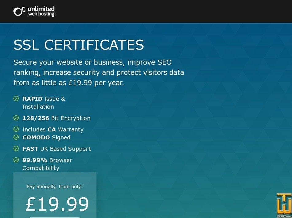 Wildcard Unlimitedwebhosting 65395 Gbp 7999yr