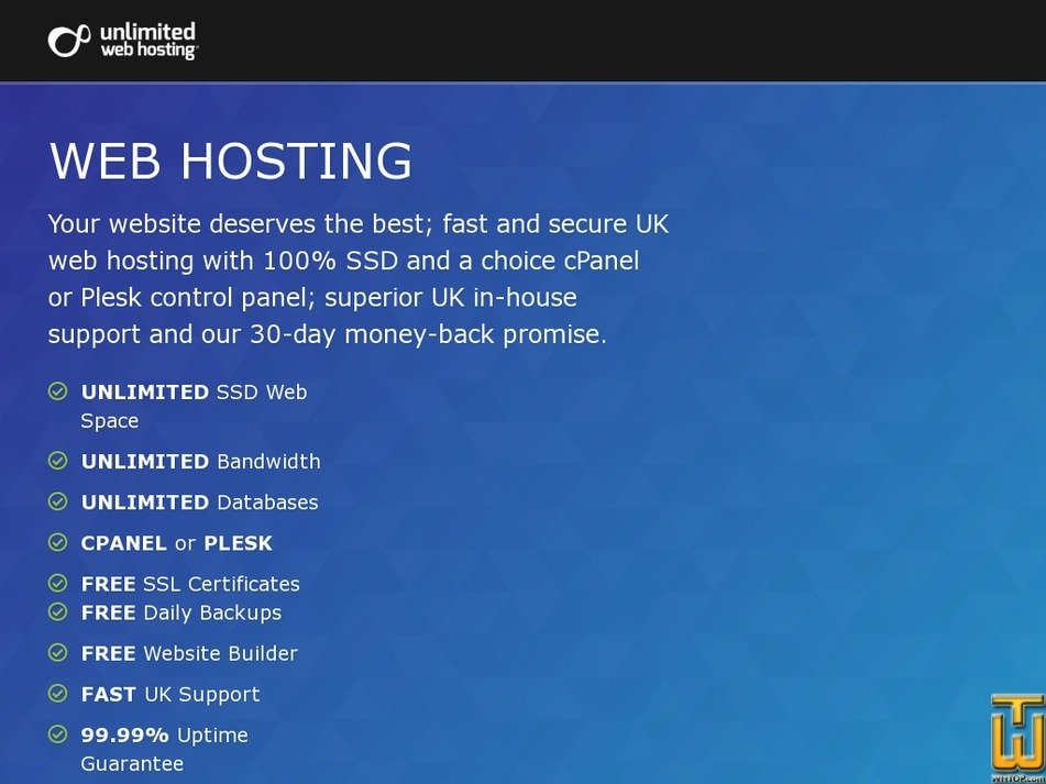 Screenshot of Web Hosting from unlimitedwebhosting.co.uk