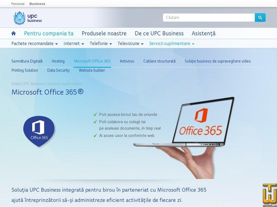 screenshot of Exchange online Kiosk from upc.ro