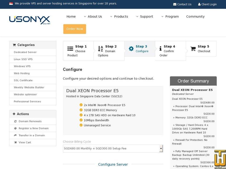 Screenshot of Enterprise Dedicated Server from usonyx.net