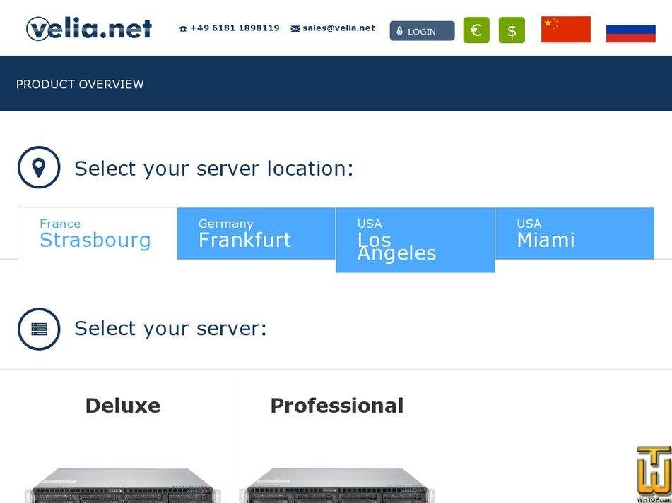 Screenshot of Deluxe - Strasbourg from velia.net