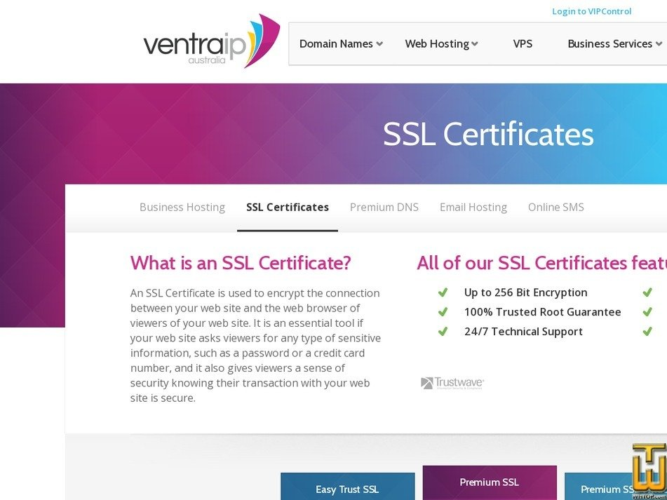 Premium Ssl From Ventraip 41530 On Ssl Certificates