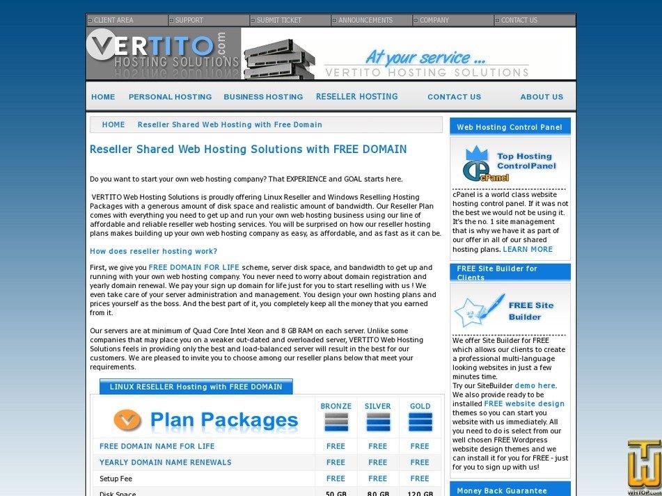 Screenshot of BRONZE from vertito.com