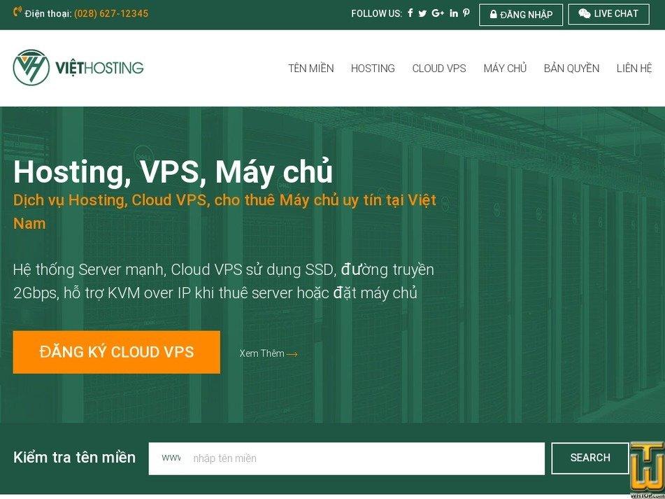 Screenshot of VH-SERVER 4 from viethosting.com