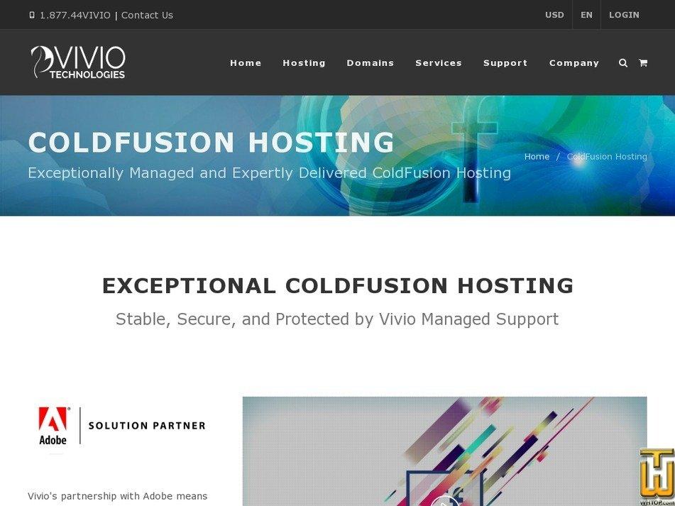 screenshot of 1GB ColdFusion VPS from viviotech.net